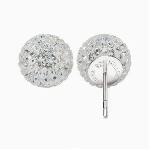 Hillberg & Berk Sparkle Ball Stud Earrings